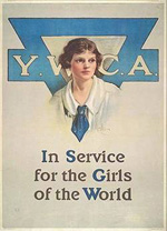 YWCA In Service for the Girls of the World_Historic Sign